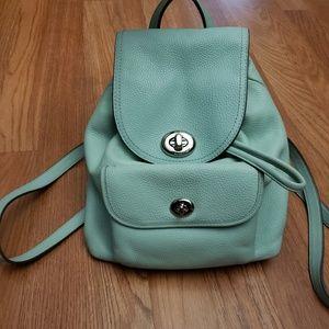 Refined pebble leather mini backpack